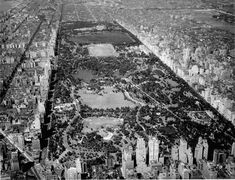 Awesome history of Central Park. 24, 1938 aerial view of Central Park. Neg. 14257