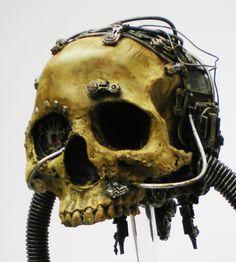 servo skull by richardsymonsart on Etsy, $200.00
