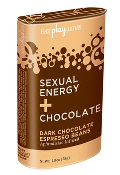 Sexual Energy + Chocolate, Espresso Beans 1 oz. - i 2012 XBIZ Award Winner - Excellence in Product Packaging /i br  Eat Play Love Boo...
