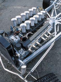 Photo by Joe Davis Jaguar V12, Warcraft Art, T Bucket, Performance Engines, Race Engines, 32 Ford, British Sports Cars, E Type, Car Engine