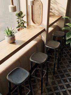 Modern interior design – Home Decor Interior Designs Cafe Tables, Restaurant Tables, Modern Restaurant, Cafe Restaurant, Home Decor Styles, Home Decor Accessories, Cheap Home Decor, Coffee Shop Design, Cafe Design
