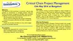 Critical Chain Project Management (CCPM) Date: 12th May 2016 @ Bangalore WebURL : www.bit.ly/kw_ccpm Contact : Chinmaya S Patil ( 9886077575 )