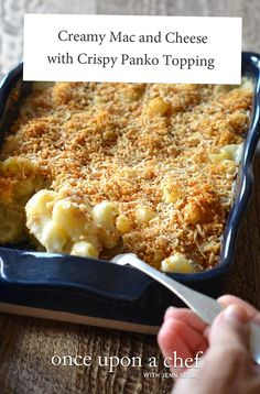 Ultracreamy and topped with crispy panko and herbs this my favorite version of homemade mac and cheese. Chef Recipes, Vegetarian Recipes, Dinner Recipes, Cooking Recipes, Pasta Recipes, Holiday Recipes, Dinner Ideas, Recipies, Creamy Mac And Cheese