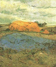 Friends of Vincent (@VanGoghADay) | Twitter Haystacks under a Rainy Sky Oil on canvas Auvers-sur-Oise: July, 1890 Otterlo: Kröller-Müller Museum