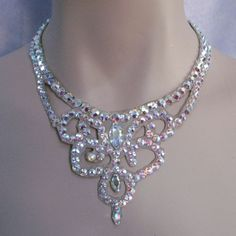 Ballroom Necklace Crystal Swirl from Ballroom Jewels for $140 on Square Market