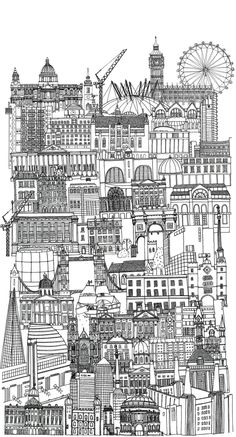 One of our beautiful Oasis Love Letters sketches by illustrator Lizzie Prestt inspired by London landmarks.