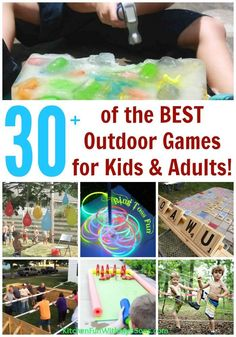 Over 30 of the BEST Backyard Games for Kids & Adults! Hours or fun for the whole family including party games, giant board games, and… Outdoor Activities For Adults, Games For Toddlers, Activities For Kids, Physical Activities, Bbq Games, Party Games, Lawn Games, Picnic Games, Camping Games
