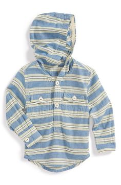 Peek+'Cayucos+Stripe'+Hooded+Pullover+Shirt+(Baby+Boys)+available+at+#Nordstrom