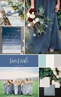 Riverside Blue pap- Pantone Colors Fall 2016 Informations About Riverside Blue Inspiration - Pantone Winter Wedding Colors, Winter Weddings, Wedding Colours, Dusty Blue Weddings, Small Weddings, Vintage Weddings, Romantic Weddings, Wedding Color Schemes, Pantone Color