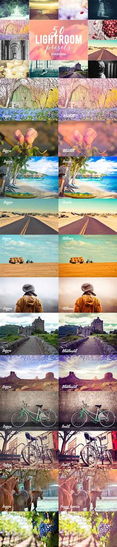 50 Lightroom Presets Bundle » Vector, PSD Templates, Stock Images, After Effects, Fonts, Web Design, Indesign