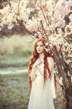 Alina Khomchenko  forest maiden, medieval, fantasy