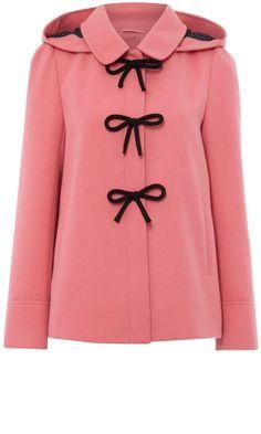 Pink Duffle Bow Coat