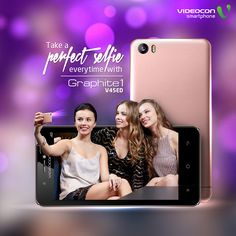 Do you love clicking #Selfies? Then #Videocon Graphite1 V45ED with front LED Flash Camera is the best #smartphone for you. To explore visit - http://www.videoconmobiles.com/graphite-v45ed