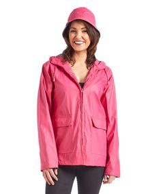 Look at this #zulilyfind! Fuchsia Lined Raincoat & Hat #zulilyfinds