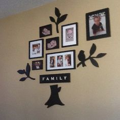 Family wall. We need one of these!!