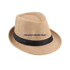cef5193e3403b Fedora- by Trilby- Gangster Cap Straw Hat for Summer and Beach Fun
