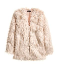 Faux Fur Jacket in Dusty Rose