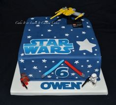 Star Wars 6th birthday cake By SugarMama5 on CakeCentral.com