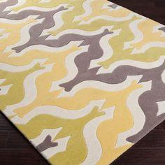 Surya Aimee Wilder Yellow Zigzag Rectangle Area Rug | Pure Home