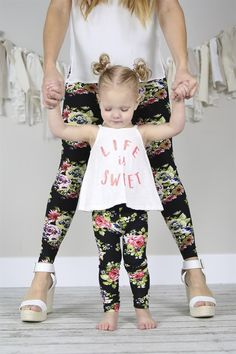 These baby leggings are the perfect combination of a stretchy-slim fit and soft, cotton knit fabric. And the tapered leg is just the cutest on baby legs.