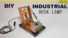 Aechitect Vintage Industrial Desk Lamp Industrial Desk, Vintage Industrial, Desk Lamp, Bookends, Youtube, Design, Industrial Table, Design Comics