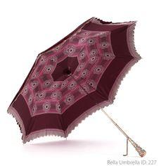 Umbrella ID 227 | Burgundy Purple Umbrella with Pink and Purple Stripe and…
