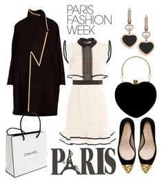 """""""Untitled #273"""" by lucie747 on Polyvore featuring Chopard, Zara, self-portrait, Chanel, parisfashionweek and Packandgo"""