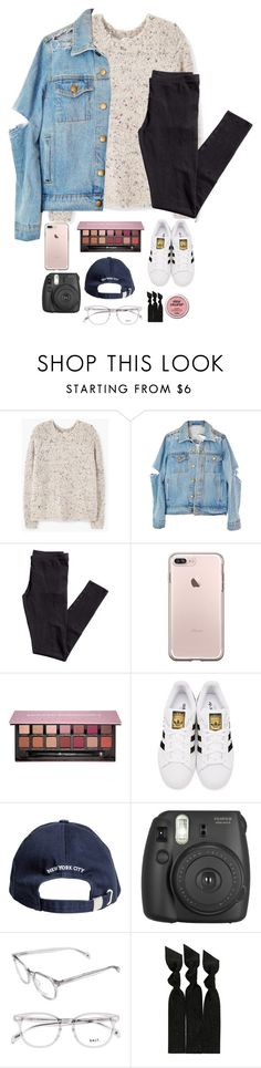 """""""I want you..."""" by theperksofbeinghope ❤ liked on Polyvore featuring MANGO, H&M, Anastasia Beverly Hills, adidas Originals, Fujifilm and Emi-Jay"""