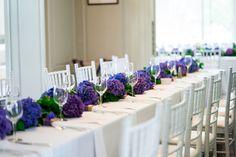 #floralrunner #floralgarland #garland Rectangle Wedding Tables, Long Table Wedding, Centerpieces, Table Decorations, Floral Garland, Hydrangea, Home Decor, Homemade Home Decor, Interior Design