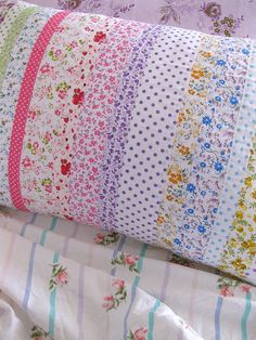 floral pillowcase....Sew simple, and a good use of leftover fabric. And I would match the sheets and not have stitching on the top- I wake up with enough lines on my face as it is!
