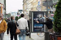 Kampania ambientowa Career EXPO polegała na dostrzeżeniu w sobie... astronauty, jak to bywało w dzieciństwie :) Nie rezygnujmy z marzeń!