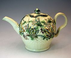 18th century Creamware Teapot by Greatbach Staffordshire c1770 (c. 1770 to c. 1780 England)