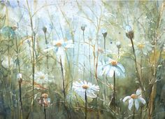 Malgorzata Szczecinska, watercolor, flowers