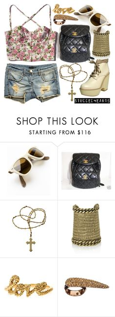 """""""Sunshine and flowers"""" by studdedhearts ❤ liked on Polyvore featuring Chanel, Chloé, Aloha Rag, Yves Saint Laurent, Zoe & Morgan, Made Her Think and casual"""