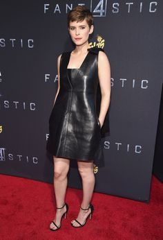The actress was anything but invisible in this sexy leather LBD.