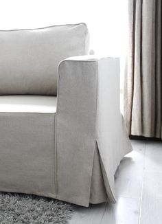 . Send in the slipcovers. They're another good choice for easy-clean upholstery if you make sure they are machine washable. If you're having custom slipcovers made, be sure to select machine-washable fabric and to have it washed before they are sewn.