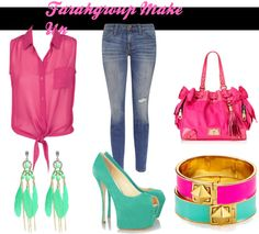 """""""FGM Fucsia and Mint Color"""" by maygimach on Polyvore"""