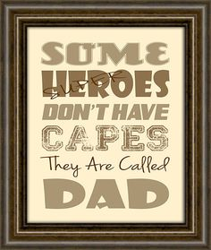 "Gifts for Grandparents - Gift For Dad -  Gifts From Kids - Dad Gift - 8X10"" Print - Dad Super Hero Print"