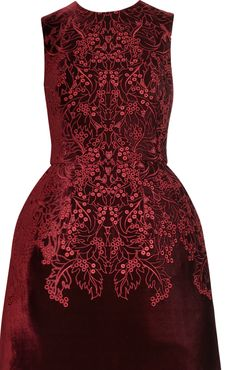 oxblood couture dress