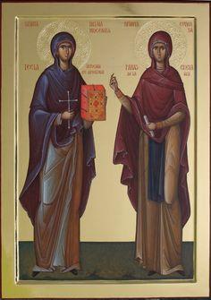 Orthodox Icons, Ikon, Saints, Prayers, Female, Fresco, Painting, Faith, Fresh