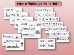 Date, Gallery Wall, Montessori, Tags, Kindergarten Classroom, Classroom Management, Billboard, Index Cards, Organisation