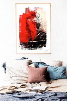 Dreams Collage arte moderno cuadro lámina acuarela