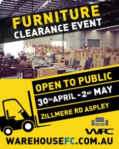 Press Release Warehouse Furniture Clearance Sale