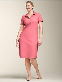e7f949d63a7ec Pique Polo Solid dress  69.50 Plus Size Womens Clothing