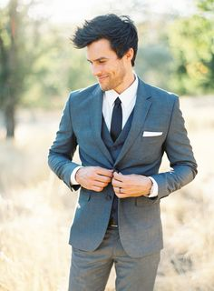 Grooms wedding suit