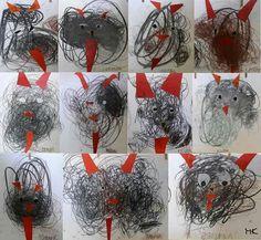 Winter Art Projects, Winter Crafts For Kids, Diy For Kids, 3d Christmas, Toddler Christmas, Kindergarten Art Lessons, Sharpie Art, Christmas Activities, Preschool Crafts