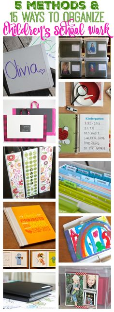 Drowing in children's school work and artwork These are five awesome methods with five different examples of how to get it organized once and for all at thehappyhousie.com