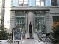 Conditorei Schober in Zurich. You have a chance to feel like royalty in Café Schober sitting on plush chairs laced in gold.