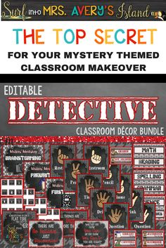 Deck out your classroom with this Detective Themed Classroom Decor Bundle! Your students will love the MYSTERY of what the new school year will hold as they return back to school! Click here to discover the MANY editable back to school printables guaranteed to help teachers with classroom organization and classroom management throughout the school year!