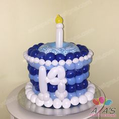 Don't forget the cake or this Birthday Cake balloon centerpiece Balloon Toys, Balloon Cake, Balloon Animals, Balloon Bouquet, Balloon Arch, Balloon Ideas, Ballon Decorations, Balloon Centerpieces, Birthday Decorations